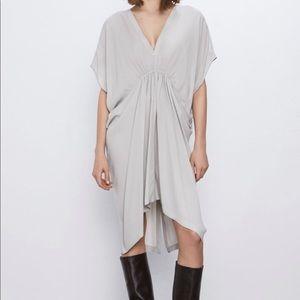 NWT Zara Flowy Drape Tunic size Large